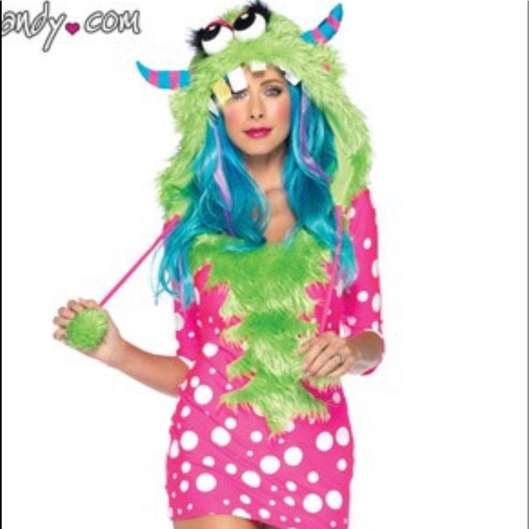 Yandy Dresses & Skirts - Pink Polka Dot Monster Costume